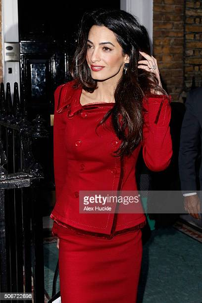 Amal Clooney seen leaving the Doughty Street Chambers after a press conference concerning her client Mohamed Nasheed the deposed Maldives president...