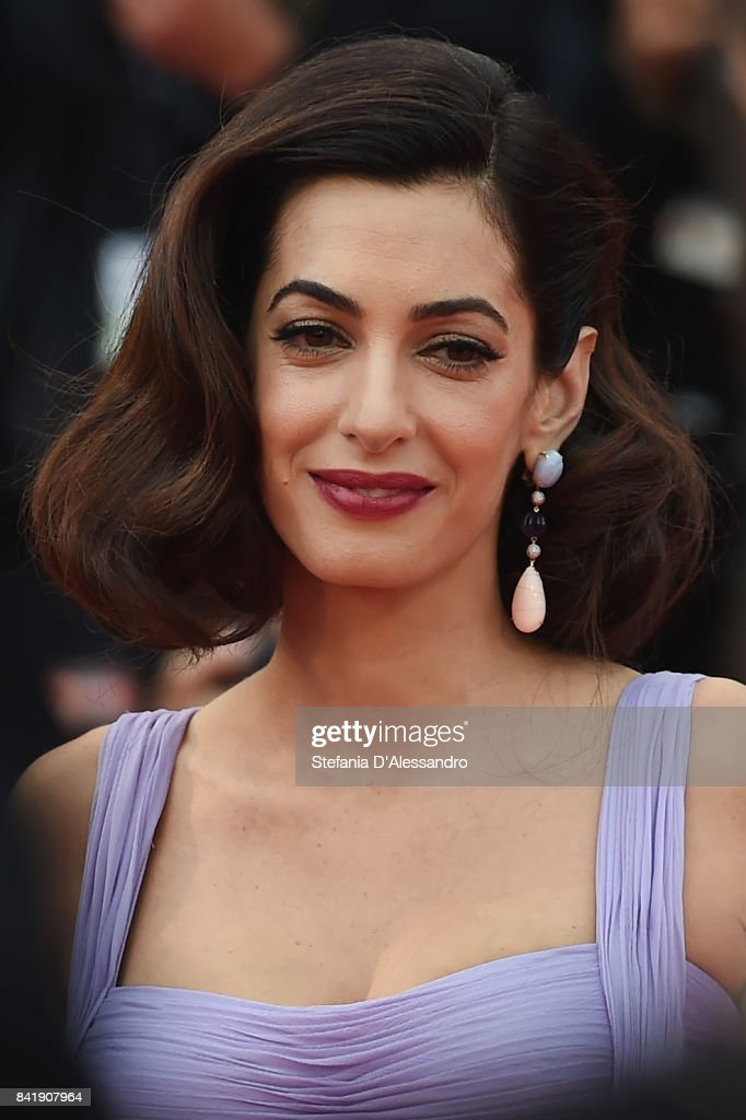 Amal Clooney walks the red carpet ahead of the 'Suburbicon' screening during the 74th Venice Film Festival at Sala Grande on September 2, 2017 in Venice, Italy.