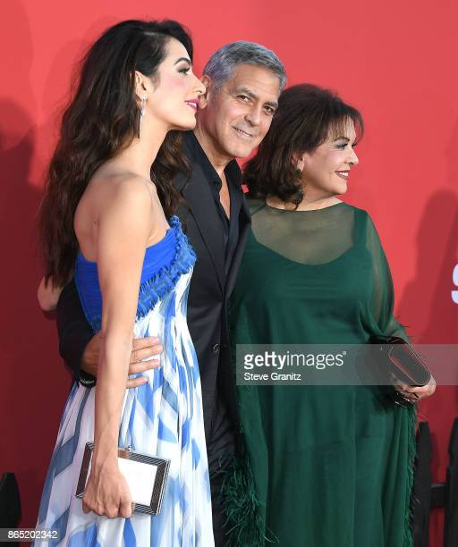 Amal ClooneyGeorge ClooneyBaria Alamuddin arrives at the Premiere Of Paramount Pictures' 'Suburbicon' at Regency Village Theatre on October 22 2017...
