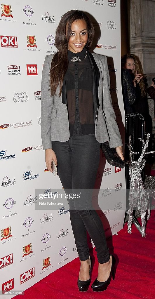 Amal Fashanu attends the OK! Magazine Christmas Party on November 27, 2012 in London, England.