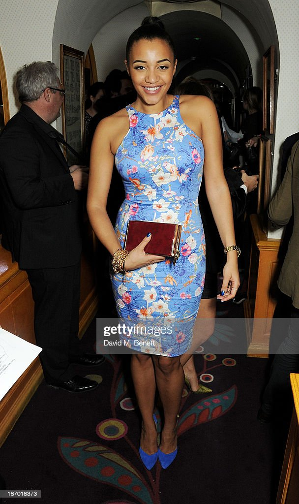 Amal Fashanu attends the Tatler's Little Black Book party at Annabel's on November 5, 2013 in London, England.