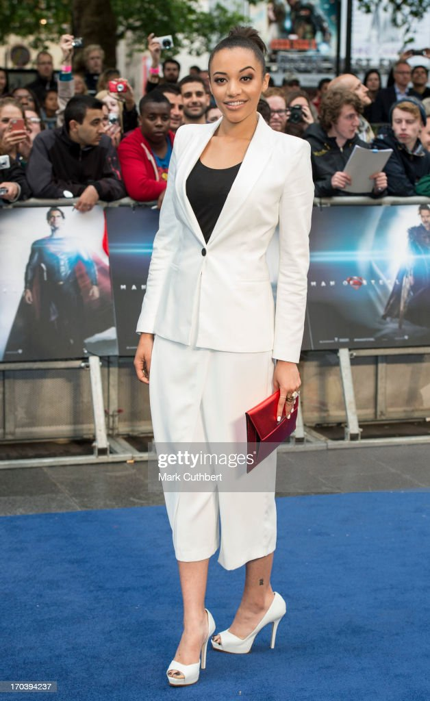 Amal Fashanu attends the UK Premiere of 'Man of Steel' at Odeon Leicester Square on June 12, 2013 in London, England.