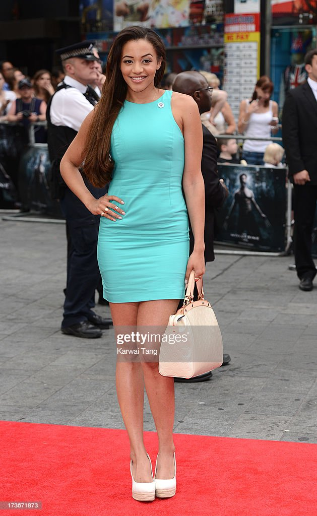Amal Fashanu attends the UK premiere of 'The Wolverine' at Empire Leicester Square on July 16, 2013 in London, England.