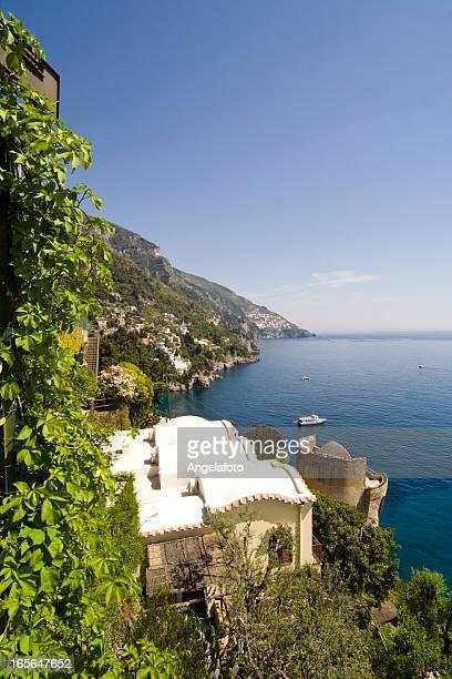 Amalfi Coast from Path of the Gods, Positano Town.