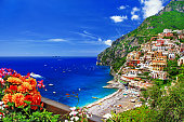 Stunning Landscapes Of Positano,Campania,Italy.