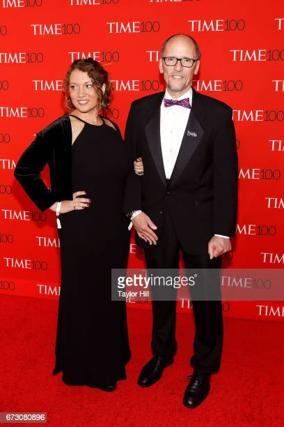 Amalia Perez and Tom Perez attend the 2017 Time 100 Gala at Jazz at Lincoln Center on April 25 2017 in New York City