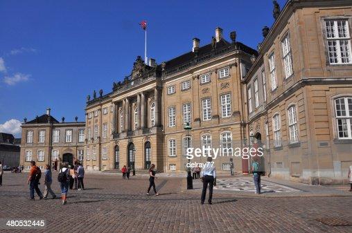 Amalienborg palace, Copenhagen : Stock Photo