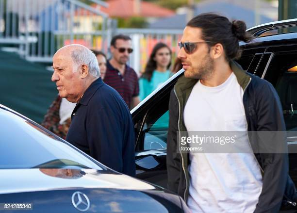 Amancio Ortega and Carlos Torretta attend during CSI Casas Novas Horse Jumping Competition on July 29 2017 in A Coruna Spain