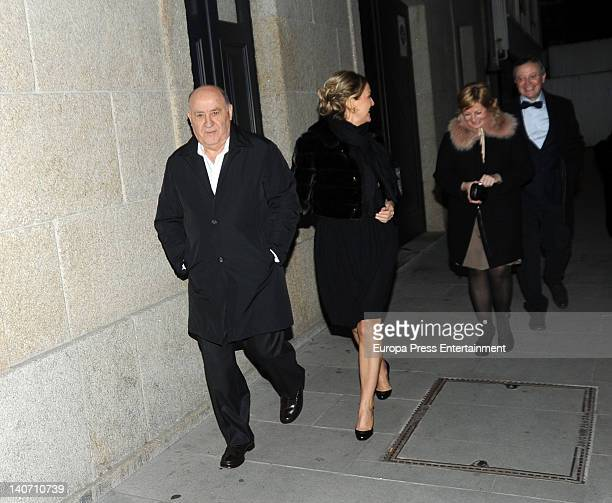 Amancio Ortega and Flora Perez are seen the day before their daughter Marta get married on February 16 2012 in A Coruna Spain