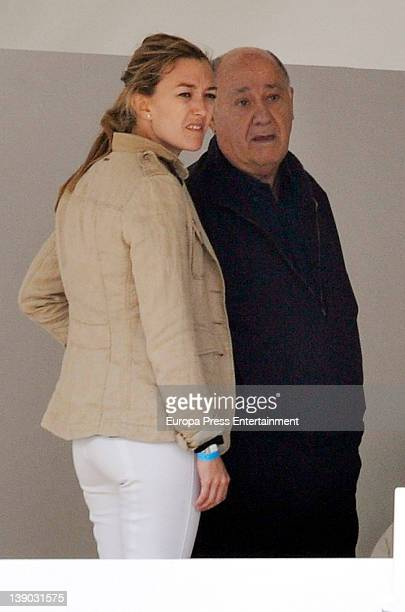 Amancio Ortega and Marta Ortega are seen in May 2011 in A Coruna Spain