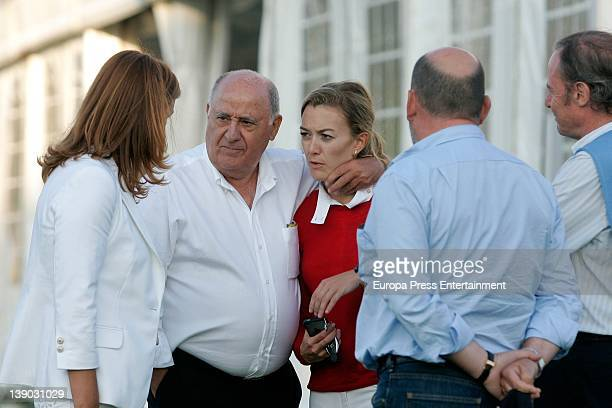 Amancio Ortega is seen embracing her daughter Marta Ortega in July 2011 in A Coruna Spain