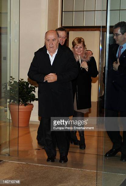 Amancio Ortega is seen the day before their daughter Marta get married on February 16 2012 in A Coruna Spain