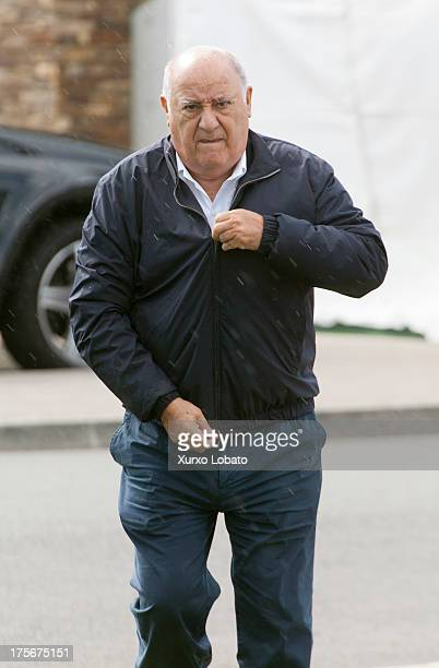 Amancio Ortega owner of Zara empire attend CSI Casas Novas Horse Jumping Competition 2013 near Arteixo on July 27 2013 in A Coruna Spain