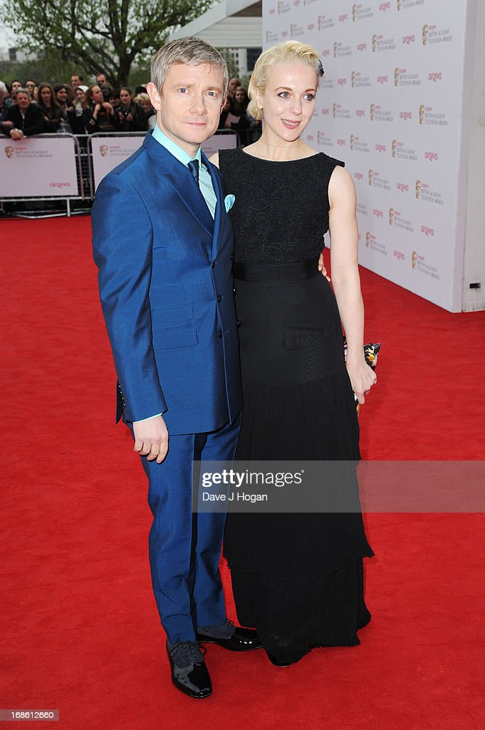 Amanda Abbington and Martin Freeman attend the BAFTA TV Awards 2013 at The Royal Festival Hall on May 12, 2013 in London, England.