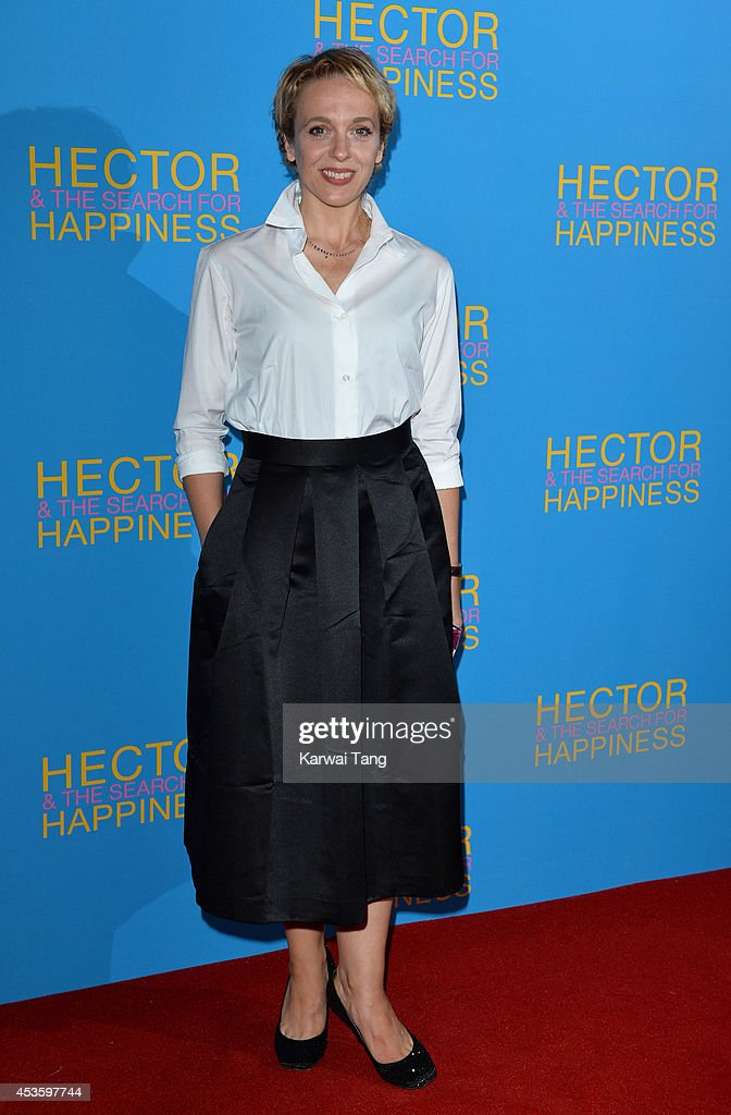 Amanda Abbington attends the UK Premiere of 'Hector And The Search For Happiness' at Empire Leicester Square on August 13, 2014 in London, England.
