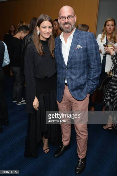 Amanda Alagem and Andres Sosa attend as Harper's BAZAAR and THE OUTNETCOM Celebrate the opening of MoMA's Fashion Exhibit 'Is Fashion Modern' at MOMA...