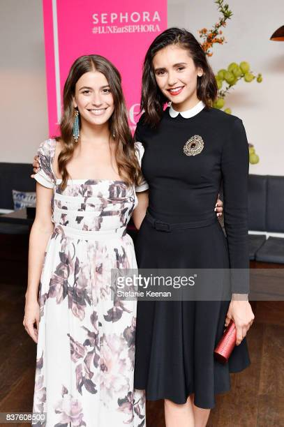 Amanda Alagem and Nina Dobrev attend Nina Dobrev celebrates the harper by Harper's BAZAAR September Issue with an Event Presented By Sephora In LA at...