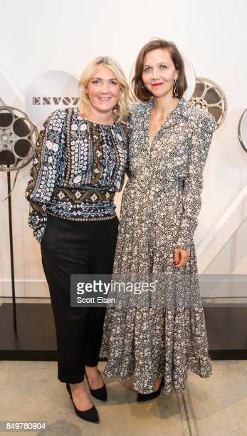 Amanda Altree and actress Maggie Gyllenhaal at Autograph Collection Hotels' exclusive screening of 'Gemini' on September 19 2017 in Boston...