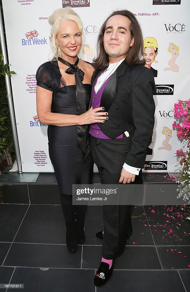 Amanda and Charles Eliasch attend the Filmmaker and Genlux Magazine Fashion Editor <a gi-track='captionPersonalityLinkClicked' href=/galleries/search?phrase=Amanda+Eliasch&family=editorial&specificpeople=795582 ng-click='$event.stopPropagation()'>Amanda Eliasch</a> Hosts BritWeek 2013 Cocktail Party on April 27, 2013 in West Hollywood, California.