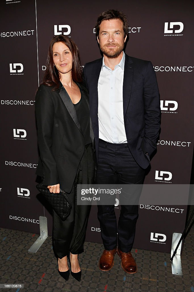 Amanda Anka and actor Jason Bateman attends the 'Disconnect' New York Special Screening at SVA Theater on April 8 2013 in New York City