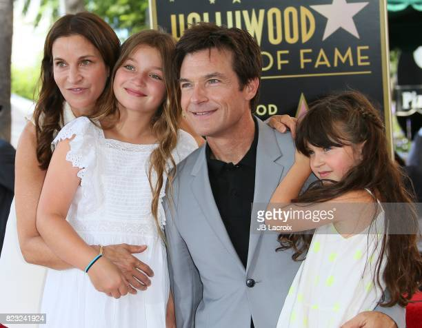 Amanda Anka Francesca Bateman Jason Bateman and Maple Bateman attend The Hollywood Walk of Fame Star Ceremony honoring Jason Bateman on July 26 2017...