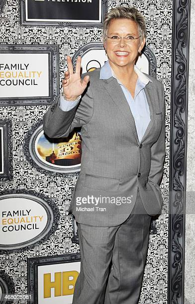 Amanda Bearse arrives at the Family Equality Council's Los Angeles Awards dinner held at The Globe Theatre on February 8 2014 in Universal City...