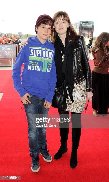 Amanda Berry and son Isaac attend the Grand Opening of the Warner Bros Studio Tour London The Making of Harry Potter on March 31 2012 in Watford...