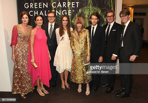 Amanda Berry Livia Firth Colin Firth Keira Knightley Anna Wintour James Righton William BanksBlaney and Andrew Bolton attend the Green Carpet...