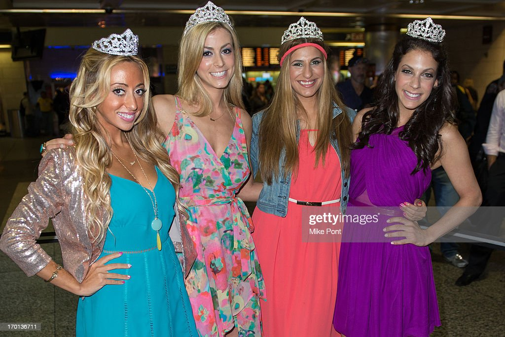 Amanda Bertoncini, Casey Cohen, Chanel 'Coco' Omari, and Joey Lauren attend 'Princesses: Long Island' Cast Photo Call at Penn Station on June 7, 2013 in New York City.