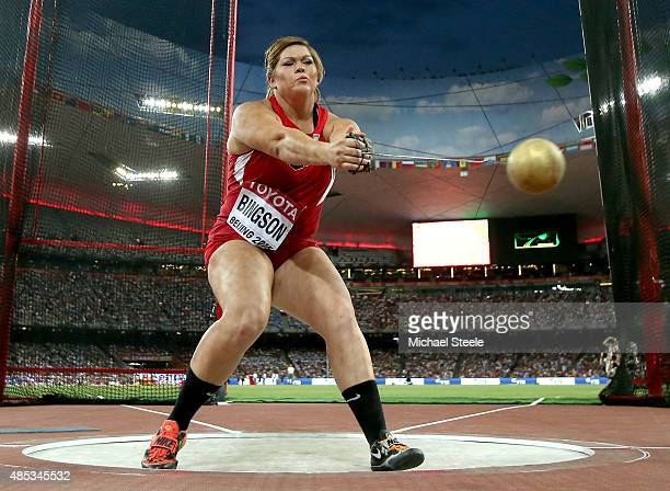 Amanda Bingson of the United States competes in the Women's Hammer Final during day six of the 15th IAAF World Athletics Championships Beijing 2015...
