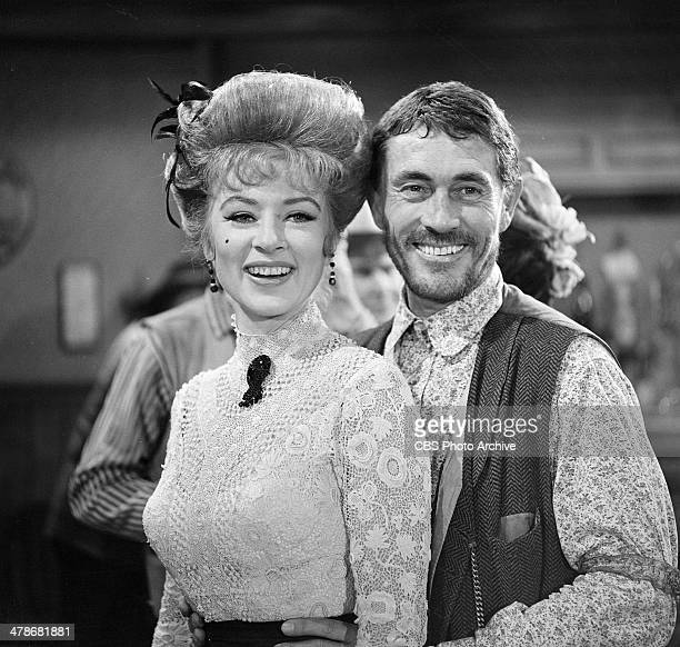 Amanda Blake as Kitty Russell and Ken Curtis as Festus Haggen on the GUNSMOKE episode 'Double Entry' Image dated October 27 1964