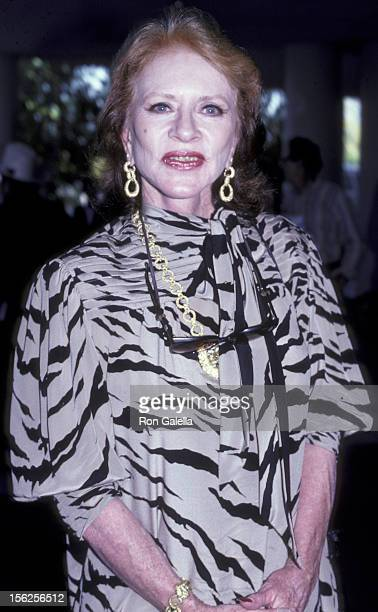 Amanda Blake attends Golden Boot Awards on August 15 1985 at the Beverly Hilton Hotel in Beverly Hills California