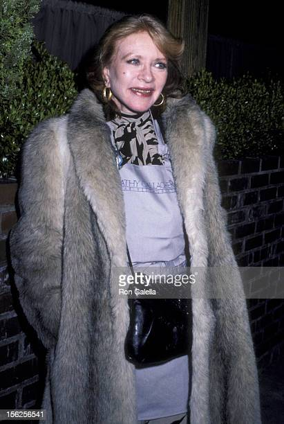 Amanda Blake attends Life Organization Benefit Fundraiser on February 11 1986 at Gallagher's Restaurant in Los Angeles California