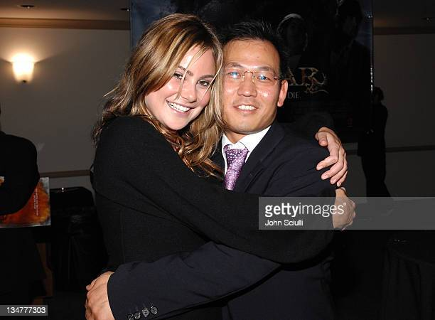 Amanda Brooks and James B Kang during Younggu and Showbox Art Presents Special Screening of 'DWars' at Paramount Theatre in West Hollywood California...