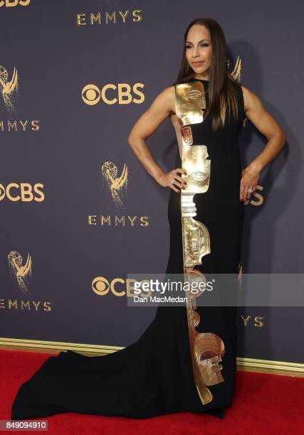 Amanda Brugel arrives at the 69th Annual Primetime Emmy Awards at Microsoft Theater on September 17 2017 in Los Angeles California