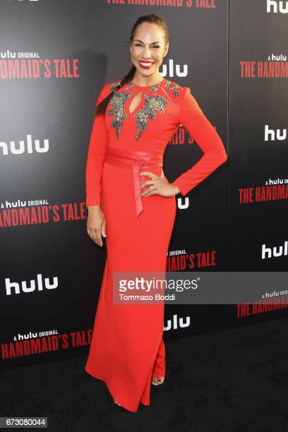 Amanda Brugel attends the Premiere Of Hulu's 'The Handmaid's Tale' at ArcLight Cinemas Cinerama Dome on April 25 2017 in Hollywood California