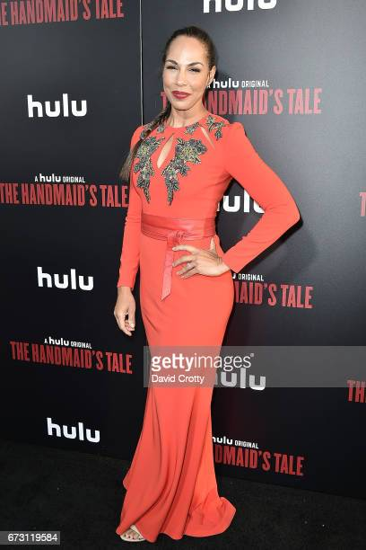 Amanda Brugel attends the Premiere Of Hulu's 'The Handmaid's Tale' Arrivals at The Dome at Arclight Hollywood on April 25 2017 in Hollywood California