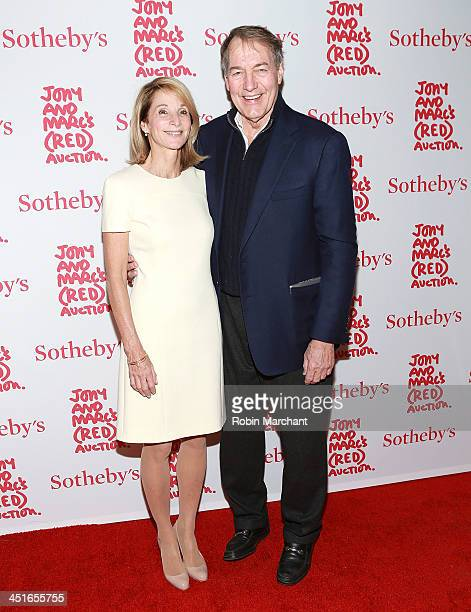 Amanda Burden and Charlie Rose attend the 2013 Auction Celebrating Masterworks Of Design and Innovation on November 23 2013 in New York United States