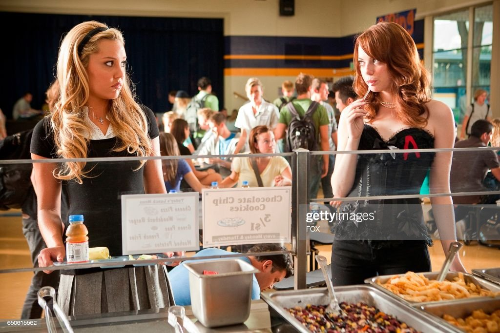 Amanda Bynes (L) and Emma Stone in the FOX Presents network theatrical premiere of Easy A, airing Friday, May 20 (8:00-10:00 PM ET/PT) on FOX.
