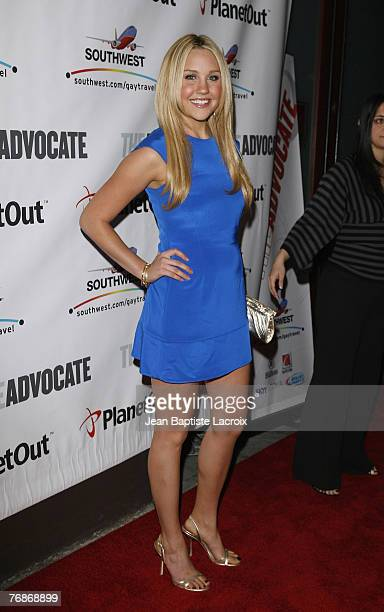 Amanda Bynes arrives at the Advocate Magazine 40th Anniversary Party at Republique club on September 18 2007 in West Hollywood California