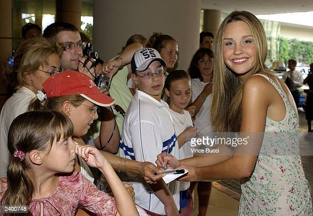 Amanda Bynes arrives for the '5th Annual Family Television Awards' at the Beverly Hilton Hotel August 14 2003 in Los Angeles The awards recogonize...