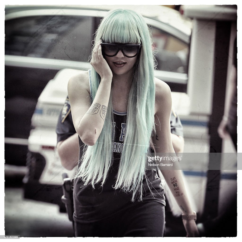 Amanda Bynes attends an appearance at Manhattan Criminal Court on July 9, 2013 in New York City. Bynes is facing charges of reckless endangerment, tampering with evidence and criminal possession of marijuana in relation to her arrest on May 23, 2013.