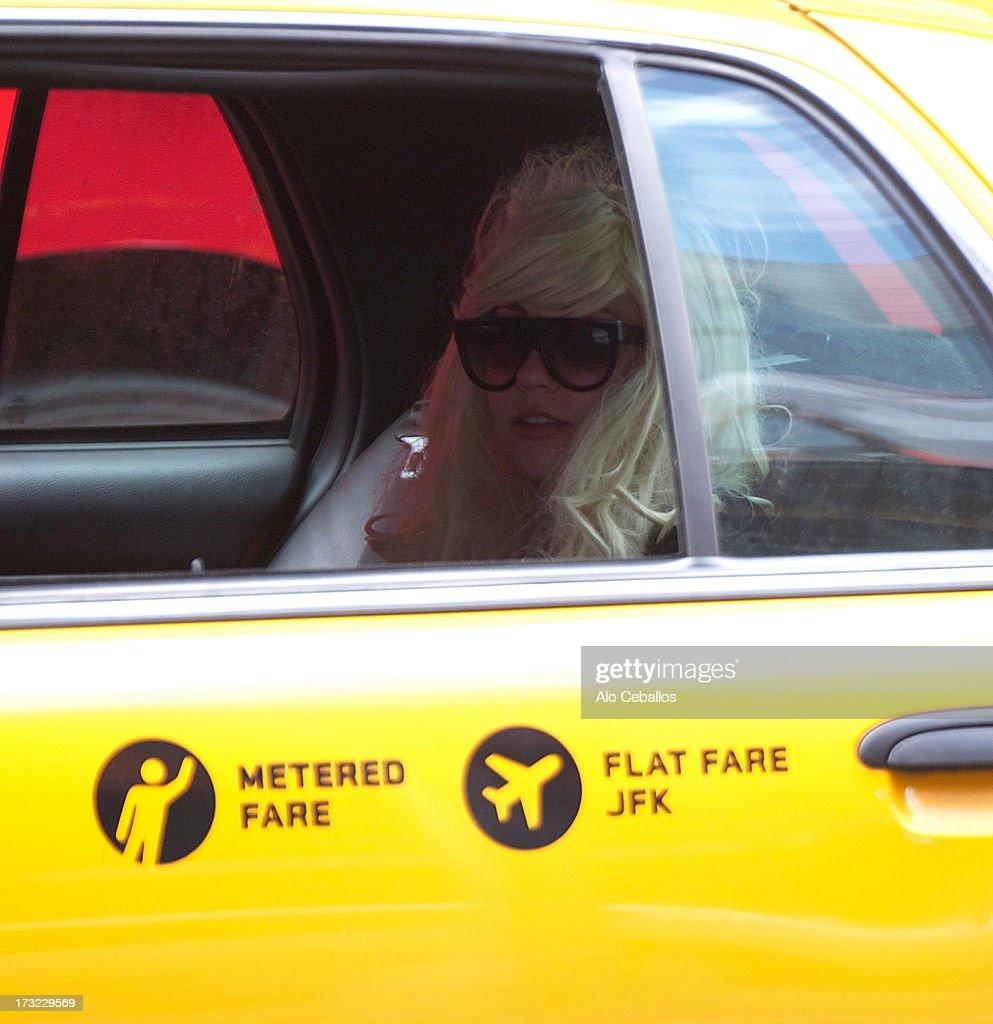 Amanda Bynes is seen in Chelsea on July 10, 2013 in New York City.