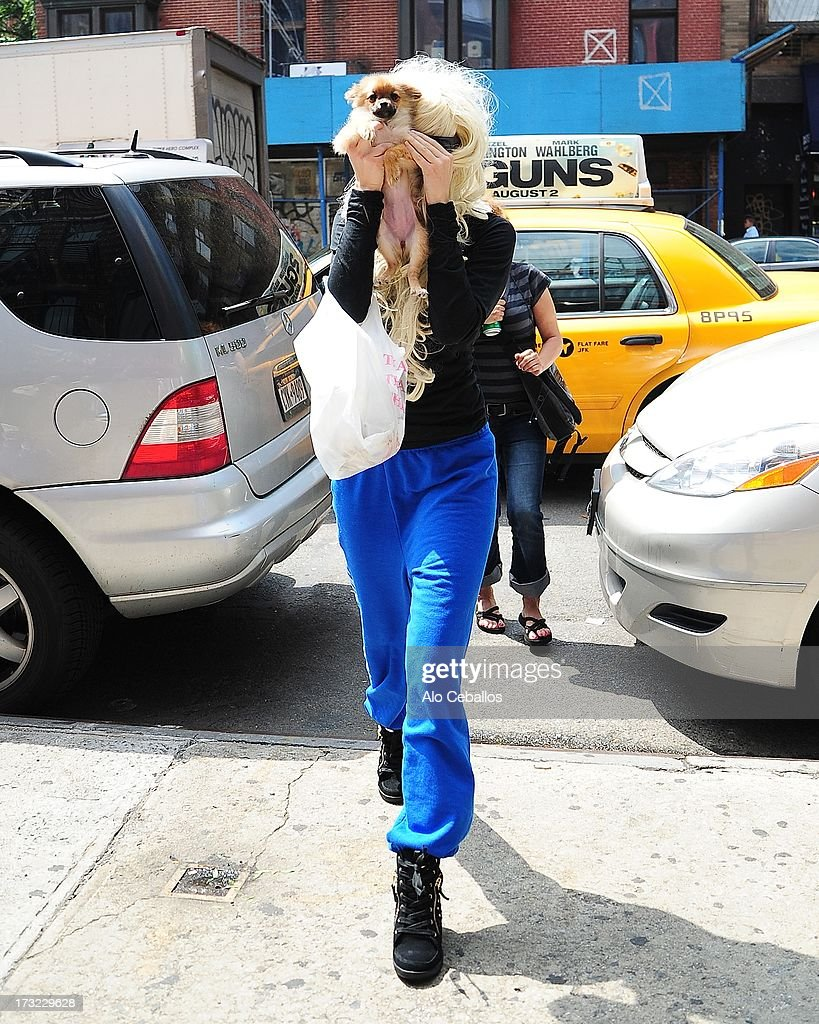 Amanda Bynes is seen in Chelsea on July 10, 2013 in New York City.