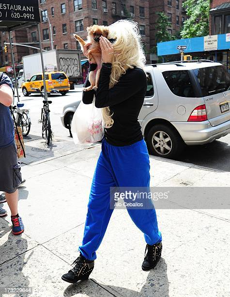 Amanda Bynes is seen in Chelsea on July 10 2013 in New York City