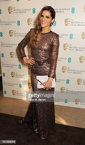 Amanda Byram arrives at the EE British Academy Film Awards at the Royal Opera House on February 10 2013 in London England