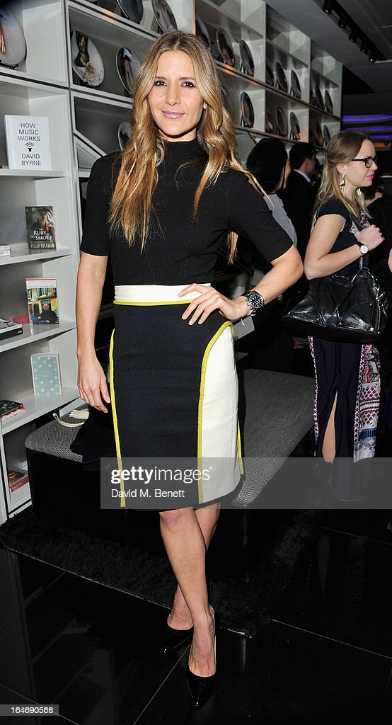 <a gi-track='captionPersonalityLinkClicked' href=/galleries/search?phrase=Amanda+Byram&family=editorial&specificpeople=661578 ng-click='$event.stopPropagation()'>Amanda Byram</a> ats W London - Leicester Square for the launch of Gizzi Erskine's remix of the W Rock Tea and her book 'Skinny Weeks and Weekend Feasts' on March 26, 2013 in London, England.