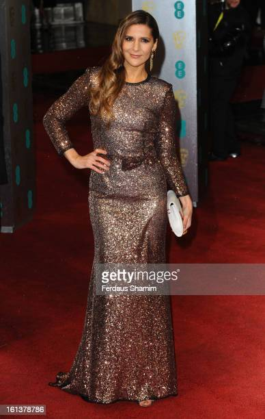 Amanda Byram attends the EE British Academy Film Awards at The Royal Opera House on February 10 2013 in London England