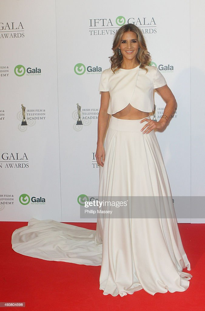 Amanda Byram attends the IFTA Gala Television Awards on October 22, 2015 in Dublin, Ireland.