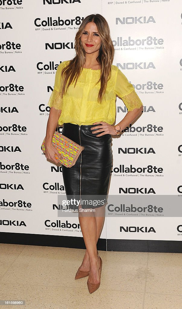 Amanda Byram attends the premiere of Rankin's Collabor8te connected by NOKIA at Regent Street Cinema on February 12, 2013 in London, England.